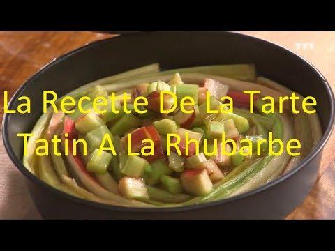 tarte-tatin-rhubarbe- -recette-de-tarte-a-la-rhubarbe -video-tarte-tatin-rhubarbe