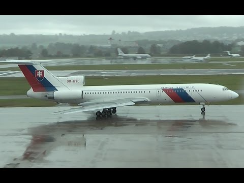 AWESOME SOUND Slovak Government Tupolev TU-154M [OM-BYO] departure at Zurich Airport