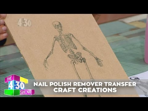 Nail Polish Remover Image Transfer - Craft