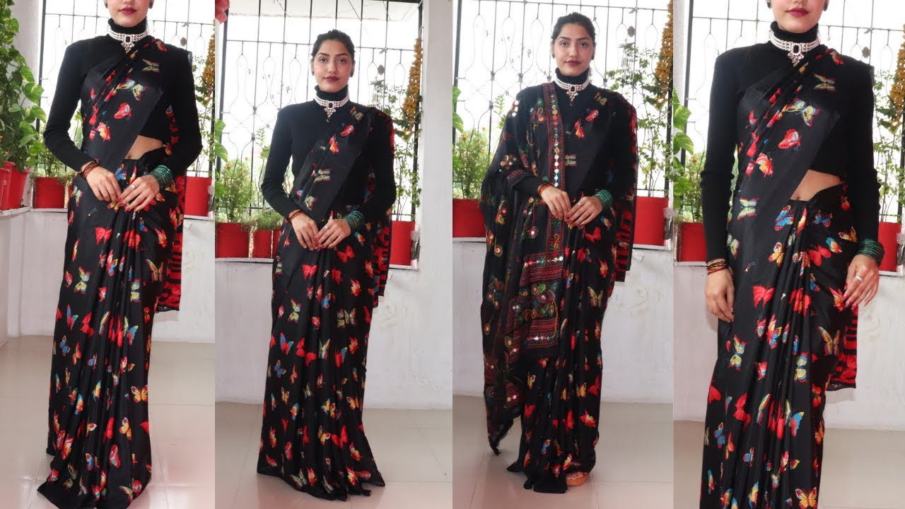 How to wear SAREE in Winters  Winter saree series (3)