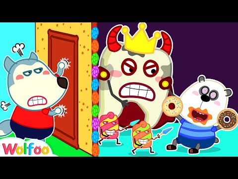 No No! Watch Out, Pando - Brush Your Teeth with Wolfoo and Talking Teeth  Wolfoo Family Kids Cartoon