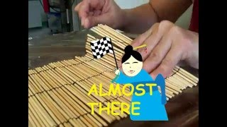 DIY HOW TO MAKE SUSHI MAT: FROM SKEWERS