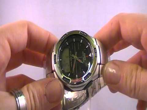 casio men s wave ceptor radio controlled wva 105hde 1aver youtube rh youtube com Casio Exilim User Manual casio watch manual 2735