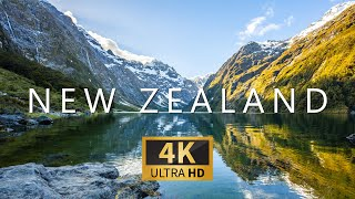 NEW ZEALAND (4K UHD) Ambient Drone Film + Best Ambient Music For Meditation, Stress Relief & Yoga