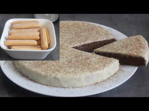gâteau-aux-biscuits-boudoirs-/gâteau-sans-sucre-ni-farine-ajoutés-très-moelleux-👌#simple-et-facile#