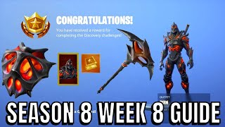 Unlocking Discovery Skin - Fortnite Season 8 Week 8 Challenges Skin Unlocked (Challenges Guide)