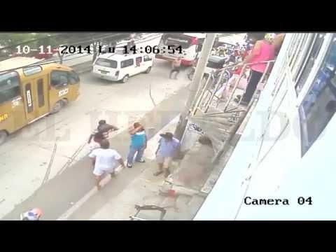En video queda registrado enfrentamiento a bala entre policías y asaltantes en Soledad