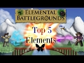 Roblox-[CRYSTAL] Elemental Battlegrounds (Top 5 Elements) 2017