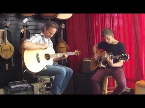 Jake Carlino w/ Jesse McNamara of Music Royale - Follow You Into The Dark - Acoustic Guitar Cover