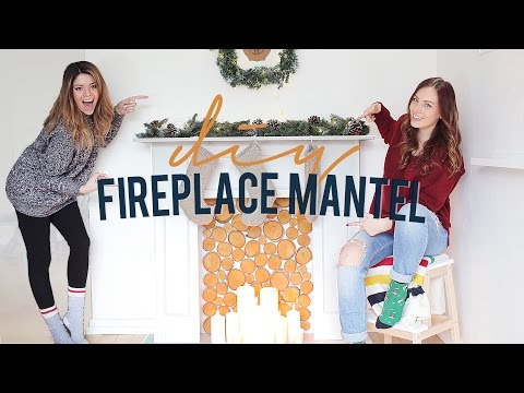 DIY FAUX FIREPLACE & MANTEL | THE SORRY GIRLS