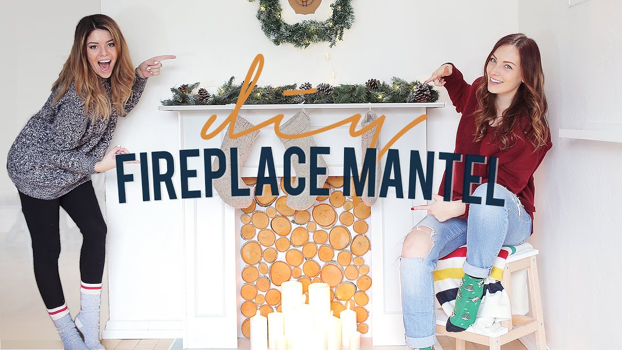 Diy faux fireplace mantel the sorry girls youtube solutioingenieria Images