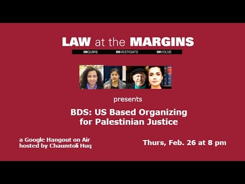 BDS: US Based Organizing for Palestinian Justice