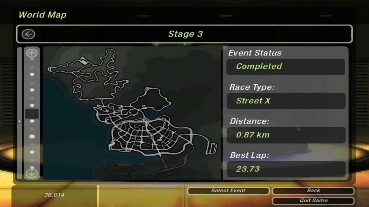 Need For Speed Underground 2 World Map Race 133 Drag