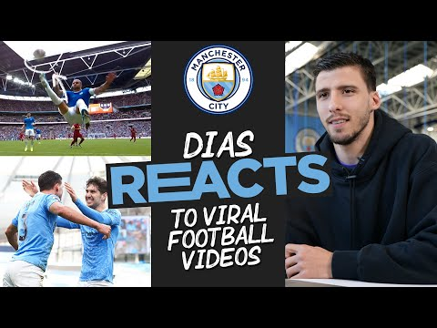 RUBEN DIAS REACTS! | Award winning defender reacts to great defensive Man City moments!