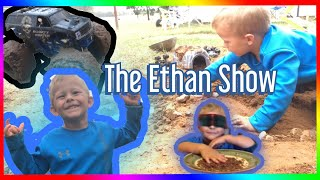 Playing in mud and a BLINDFOLD CHALLENGE!!