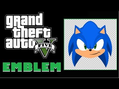 Grand Theft Auto 5 Gta 5 Gta V Sonic The Hedgehog Emblem Tutorial Youtube