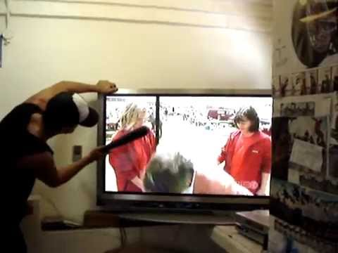 How To Fix A Plasma Tv With Baseball Bat And Wall