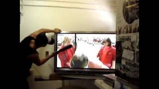 how to fix a plasma tv with a baseball bat and a wall