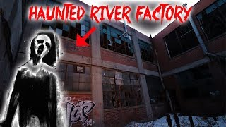 HAUNTED OVERNIGHT CHALLENGE IN THE HAUNTED RIVER FACTORY!!