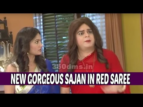 May I Come In Madam | Watch New Gorgeous Sajan in Red Saree | On Location thumbnail