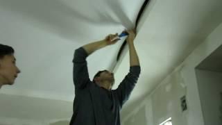 Натяжной потолок своими руками за 2,5 часа . Stretch ceiling for 2.5 hours and $ 1.6
