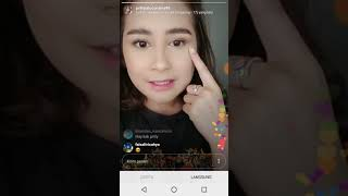 Prilly Latuconsina Live Instagram 10 11 2018