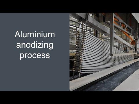 Aluminium anodising process