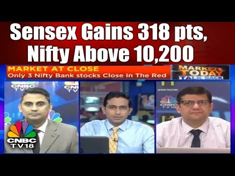Banks Bounce Back | Sensex Gains 318 pts, Nifty Above 10,200 | Market Today Talk Back | CNBC TV18