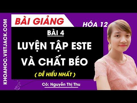 Luyện tập este và chất béo - Bài 4 - Hóa học 12 - Cô Nguyễn Thị Thu (DỄ HIỂU NHẤT)