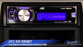 JVC KD-R80BT Car Stereo | iPod, iPhone & Android Ready w/ Bluetooth