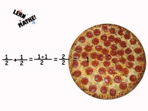 bruchrechnen einfach erkl rt mit pizza lern mathe mathe nachhilfe mathe lernen youtube. Black Bedroom Furniture Sets. Home Design Ideas