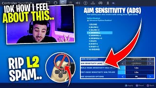 Nickmercs Reacts To Aim Assist Being NERFED?! Rip L2 Spam..