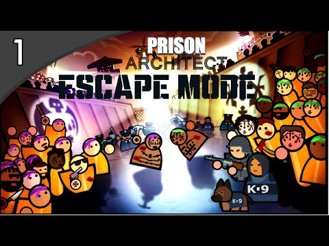 Prison Architect: ESCAPE MODE - MINHA GANGUE! #1 ( GAMEPLAY / PC / PTBR PORTUGUÊS ) HD