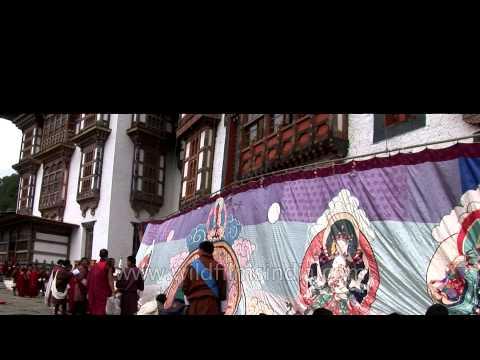 Paro Tsechu Festival, one of the beautiful spring festival in Bhutan