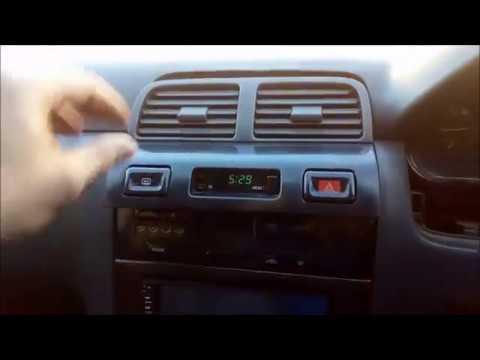 Замена лампочек в центральной консоле на Nissan Cefiro PA32