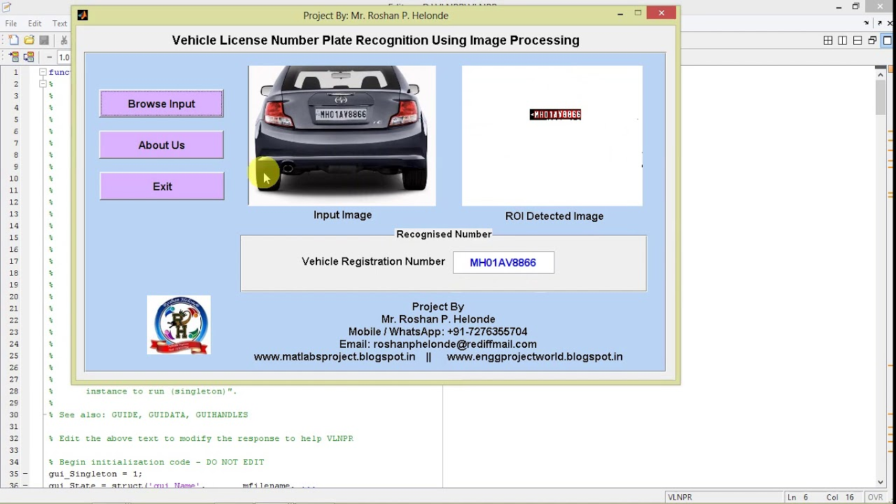 Matlab Code for Car Number Plate Recognition Using Image Processing