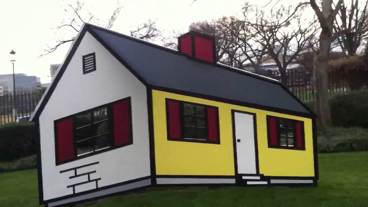 Roy Lichtenstein\'s Optical Illusion House - YouTube