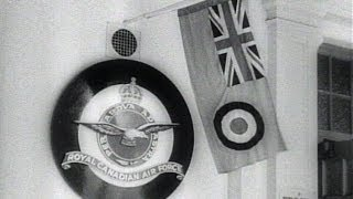 HD Historic Archival Stock Footage WWII - Canada Hails 3rd Year Of Empire Air Training