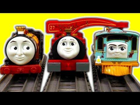 Thomas TrackMaster Lexi Harvey Stephen 3 Packs Rubber Chicken Train Crashing Factory Error Fun