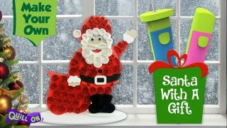 Make your own Quilling Santa - Full Tutorial and Free Template!