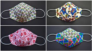 4 Very Easy Face Mask Pattern Face Mask Sewing Tutorial DIY Cloth Face Mask New Style Mask
