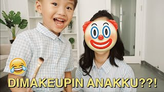 MY 3 YEARS OLD SON DOES MY MAKEUP CHALLENGE 😂