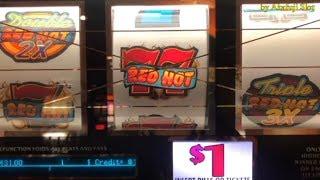 JACKPOT - Blazin' Gems★Big Win - Triple Double RED HOT - 3 Reels @San Manuel Casino & Pechanga