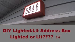 DIY LED Lit Address Box - using reclaimed cedar fence pickets - do it yourself
