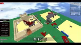 ROBLOX: Construction of the Castle + fight part: 4:D