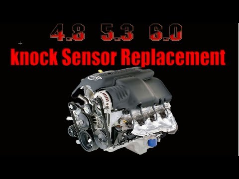 hqdefault 4 8 5 3 6 0 knock sensor replacement gm youtube Chevy Engine Wiring Harness at crackthecode.co