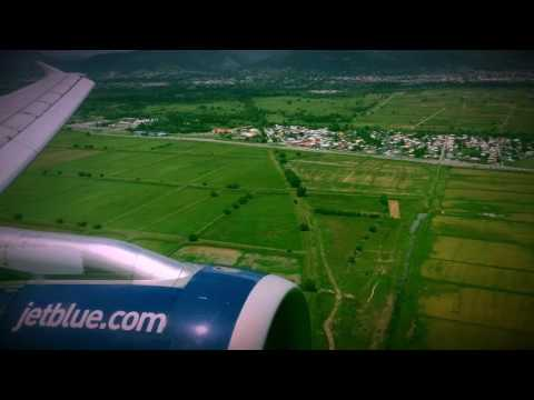 JET BLUE A320 ON FINAL INTO PORT OF SPAIN (POS) TRINIDAD & TOBAGO