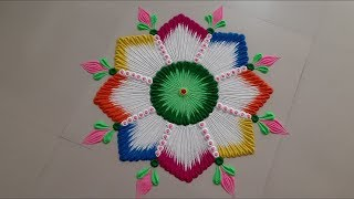 very very easy and beautiful rangoli design for festival by Aarti shirsat ||Top rangolis