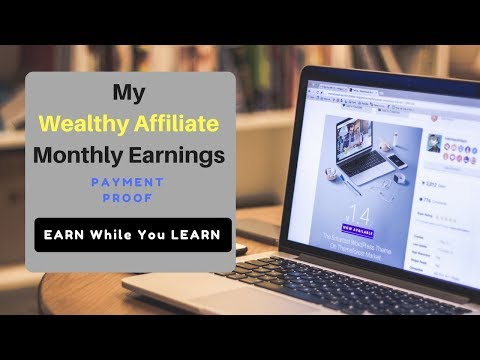 Wealthy Affiliate Monthly Earnings   Proof
