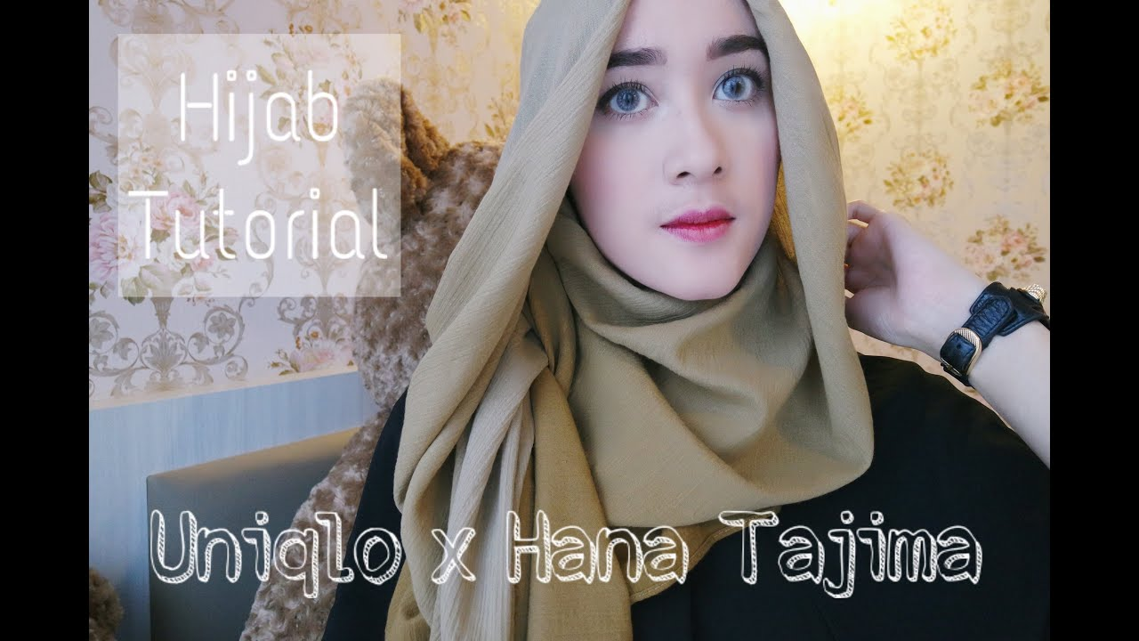 UNIQLO X Hana Tajima 3 Ways Hijab Tutorial Raudhach YouTube